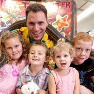 Johnny With Children At a Show Image