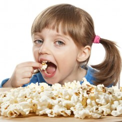 Girl With Popcorn Image